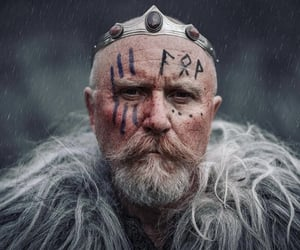 character, warrior, and face paint image