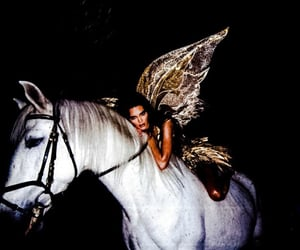 kendall jenner, horse, and Halloween image