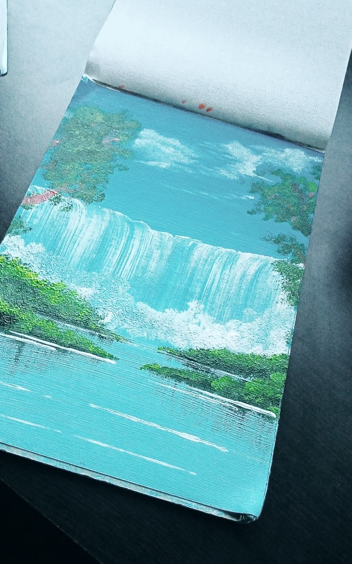 acrylic, blue, and nature image
