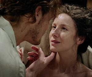 outlander, netflix, and jamie and claire image