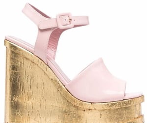 gold, pink, and sandals image
