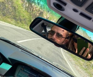 car, mirror, and music image