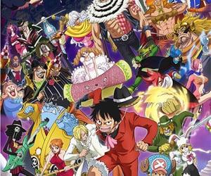 anime, chopper, and モンキー d ルフィ image