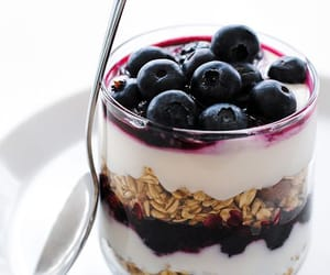 blueberries, food, and parfait image