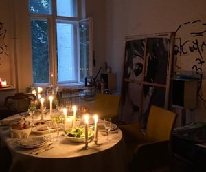 aesthetic, candles, and food image