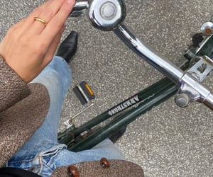 autumn, bicycle, and fashion image