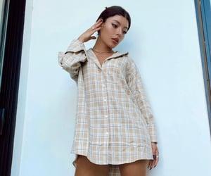 long shirt, model, and shirt dress image