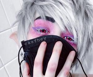 cyberpunk, silver hair, and kawaii boy image