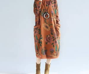 midi dress, cotton dresses, and high collar dress image