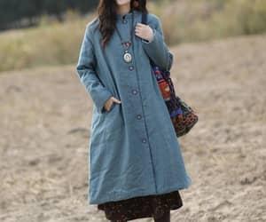 minimalist coat, padded linen robes, and women winter linen coat image