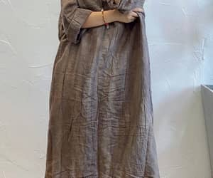 linen gown, linen long dresses, and oversized robe image