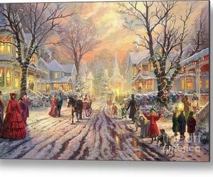 art, christmas, and vintage image