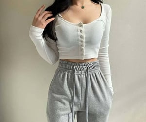 casual, grey, and style image