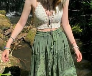 fairy, crop top, and green and white image