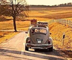 car, fall, and retro image