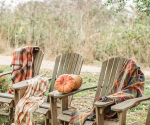 autumn, chairs, and blankets image