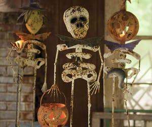 autumn, skulls, and decorating image