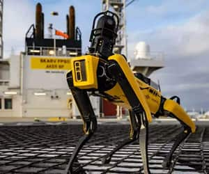 Automation, oil rigs, and robots image