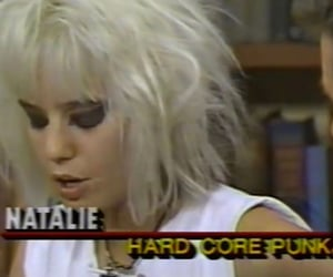 old school, hair blonde, and tv show image