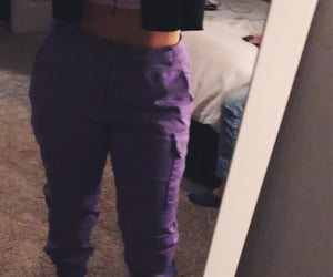 outfit, muah, and purple image