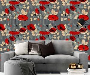 anime, dekorasirumah, and floral wallpaper image