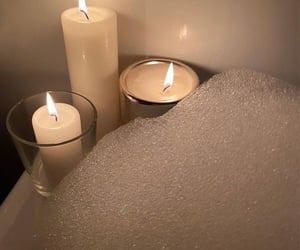 autumn, bath, and candles image