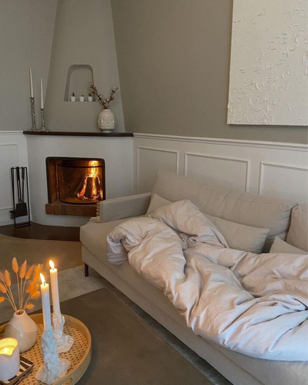 autumn, cosy, and fireplace image