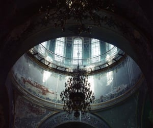 abandoned, blue, and light image