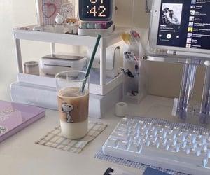 coffee, desk, and study image