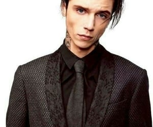 black, fashionable, and suit image