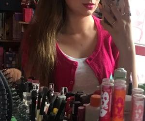 hot pink, long hair, and pink image