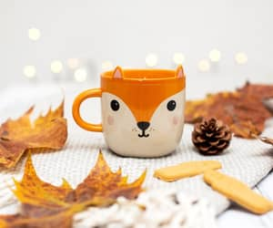 aesthetic, autumn, and coffee cup image