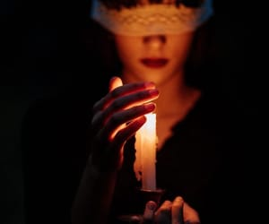 black, candle, and light image