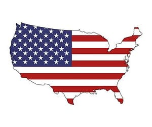 american flag, freedom, and home image