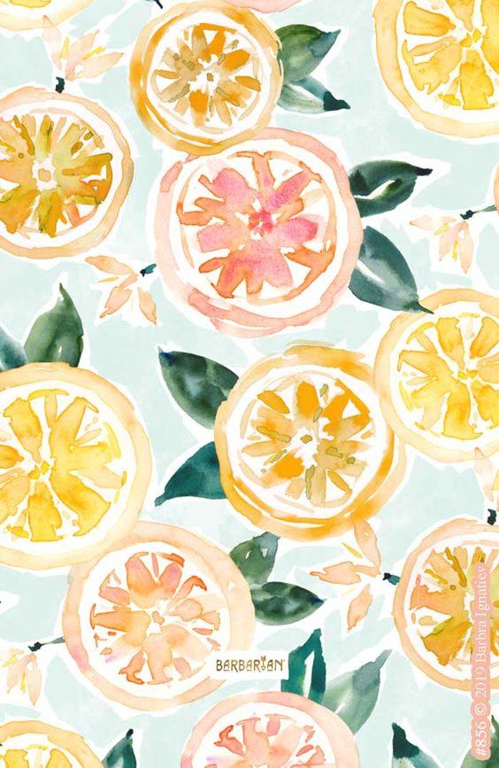 background, lemon, and pattern image