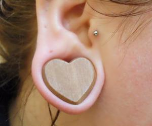 heart, Plugs, and piercing image