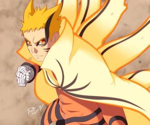 anime, naruto, and kyubi image