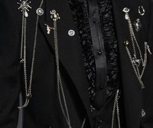 black, fancy, and chains image