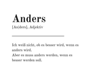 anders, spruch, and deutsch image
