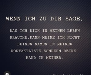 hand, liebe, and du image