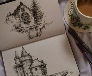 castle, coffee, and cup image