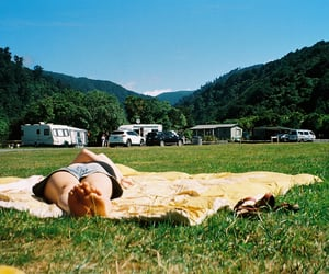 birkenstock, blue, and camping image