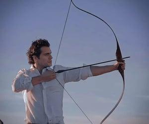 arrow, bow, and bow and arrow image