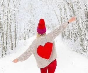belleza, moda, and invierno image