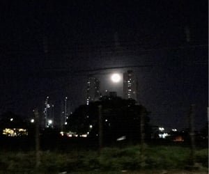 aesthetic, city, and moon image