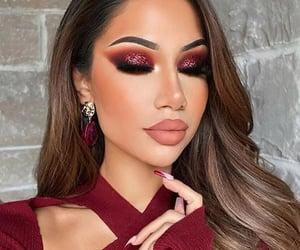 máquillaje, burgundy makeup, and ginda image