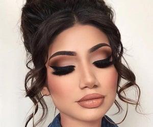 brown, makeup, and natural image