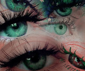 green eyes, makeup, and artistic image