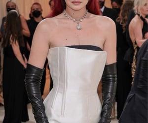 black, black gloves, and red carpet image