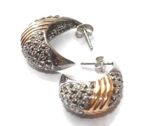 etsy, hoop earrings, and sterling silver image